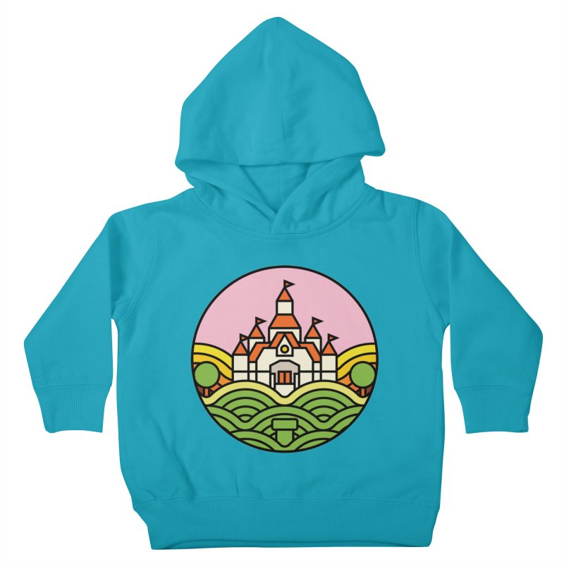 The Mushroom Kingdom Kids Toddler Pullover Hoody by Jason Cryer