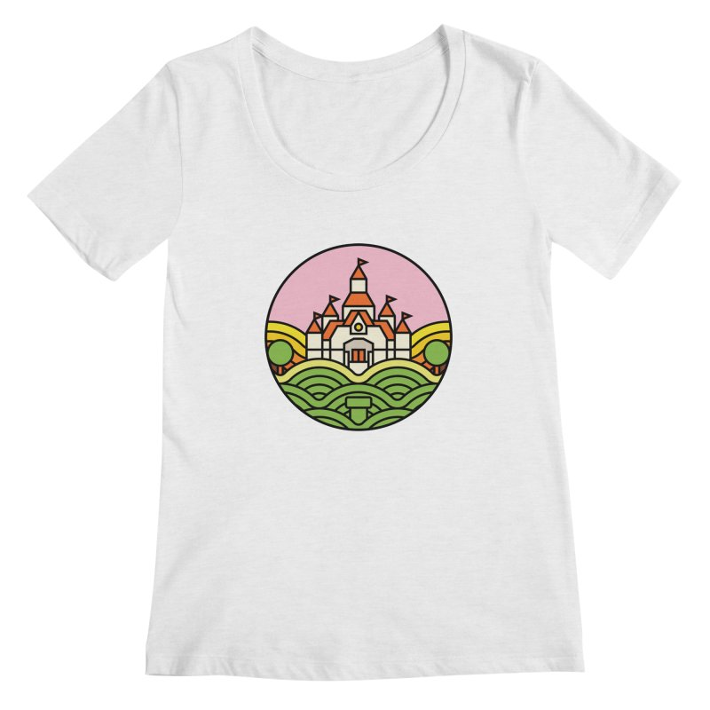 The Mushroom Kingdom Women's Regular Scoop Neck by Jason Cryer