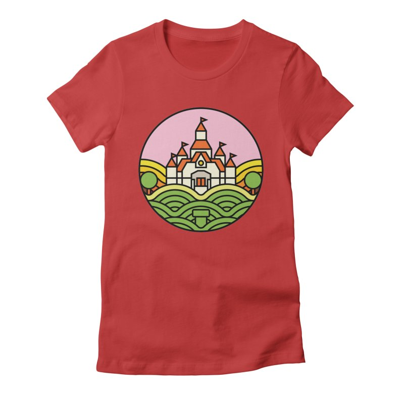 The Mushroom Kingdom Women's Fitted T-Shirt by jasoncryer's Artist Shop