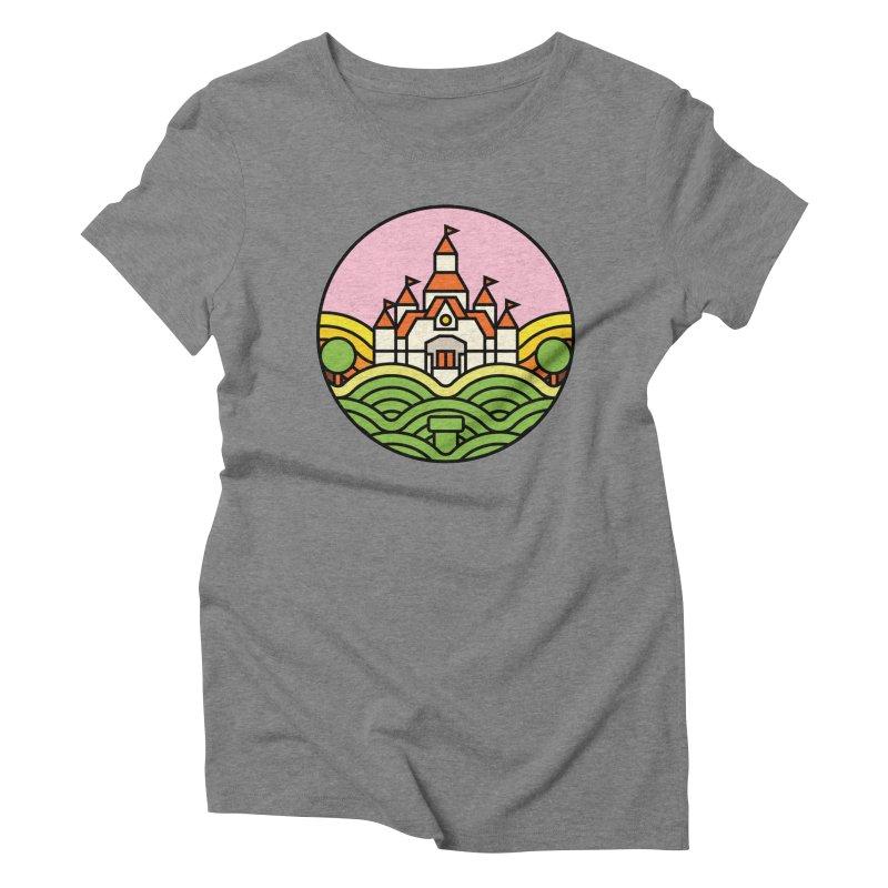 The Mushroom Kingdom Women's Triblend T-shirt by jasoncryer's Artist Shop