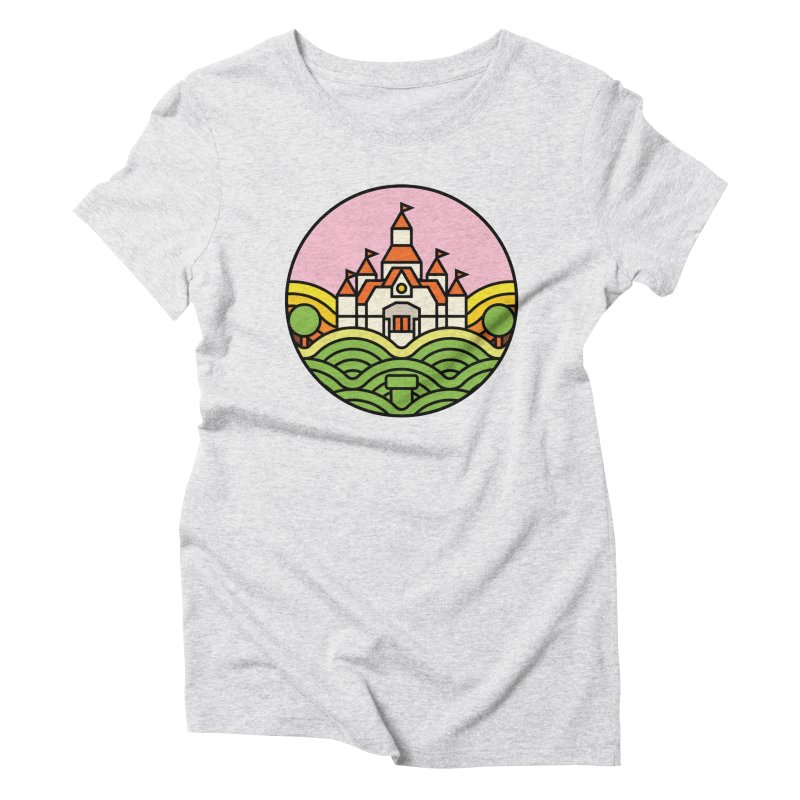 The Mushroom Kingdom Women's Triblend T-Shirt by Jason Cryer
