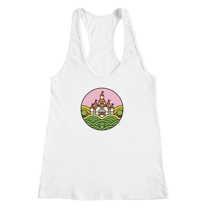 The Mushroom Kingdom Women's Racerback Tank by Jason Cryer