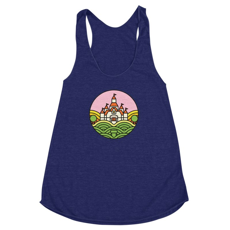 The Mushroom Kingdom Women's Racerback Triblend Tank by jasoncryer's Artist Shop