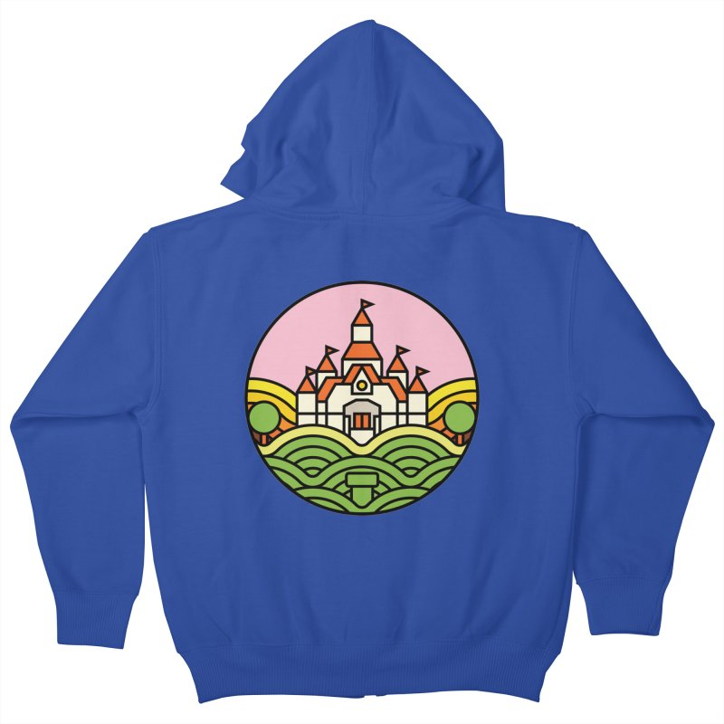 The Mushroom Kingdom Kids Zip-Up Hoody by jasoncryer's Artist Shop