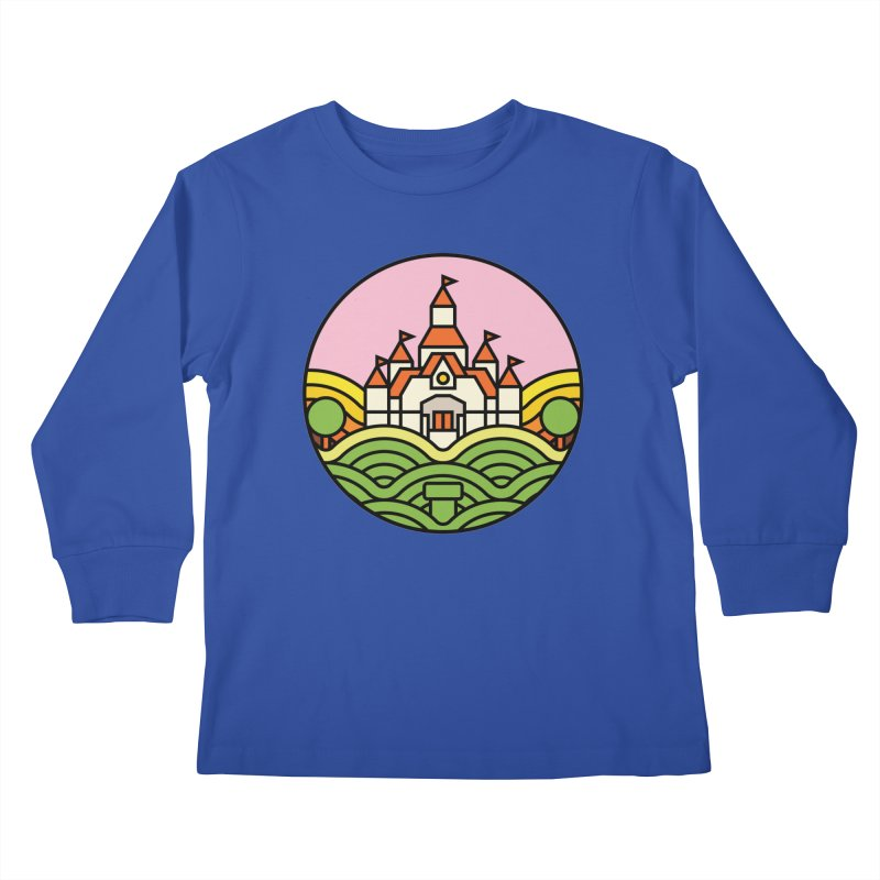 The Mushroom Kingdom Kids Longsleeve T-Shirt by Jason Cryer