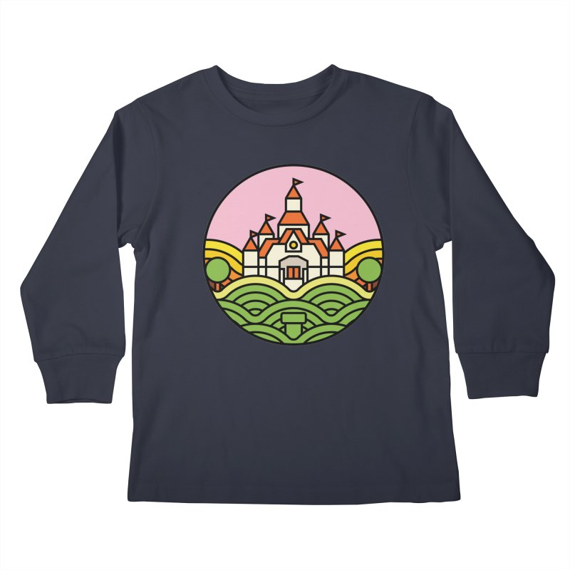 The Mushroom Kingdom Kids Longsleeve T-Shirt by Jason Cryer