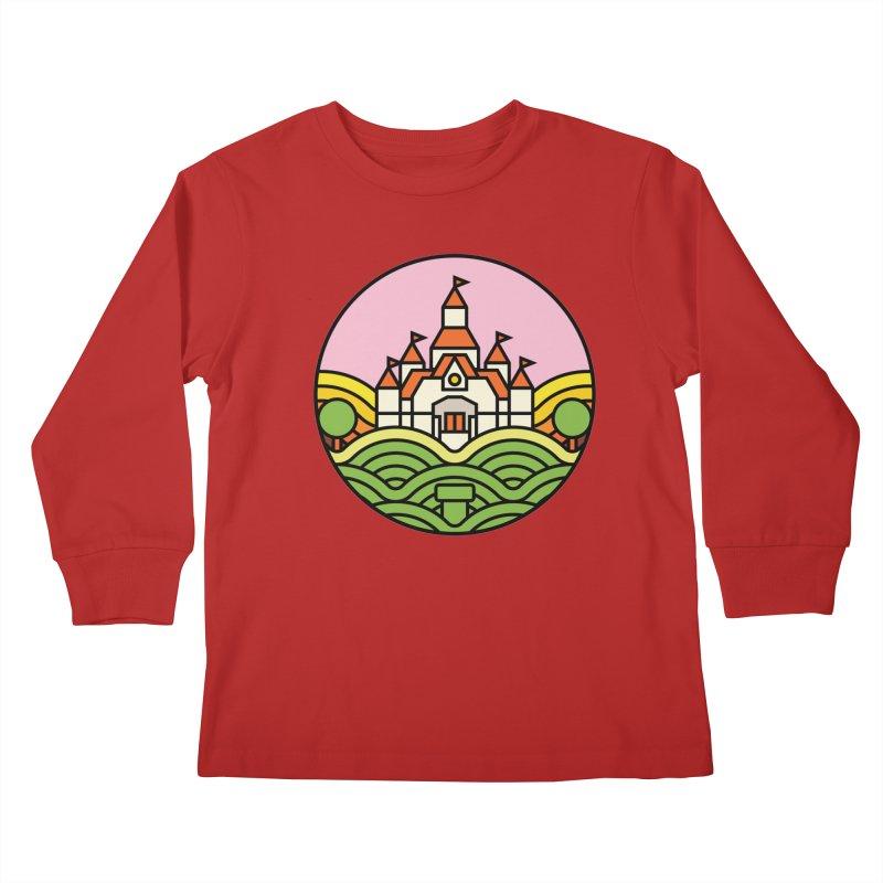 The Mushroom Kingdom Kids Longsleeve T-Shirt by jasoncryer's Artist Shop