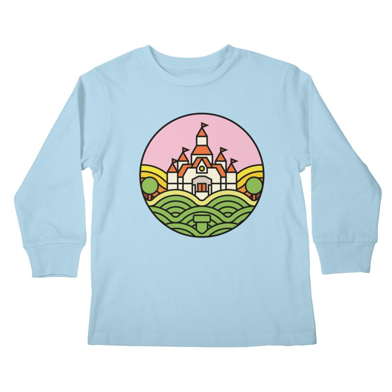 The Mushroom Kingdom Kids Longsleeve T-Shirt by jasoncryer's Artist Shop
