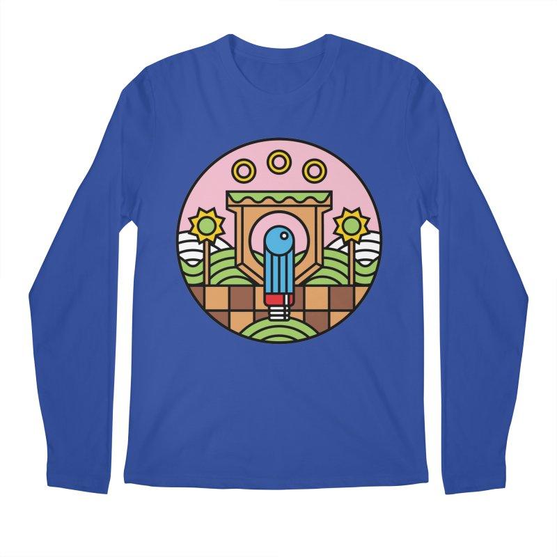 The Blue Blur Men's Regular Longsleeve T-Shirt by jasoncryer's Artist Shop