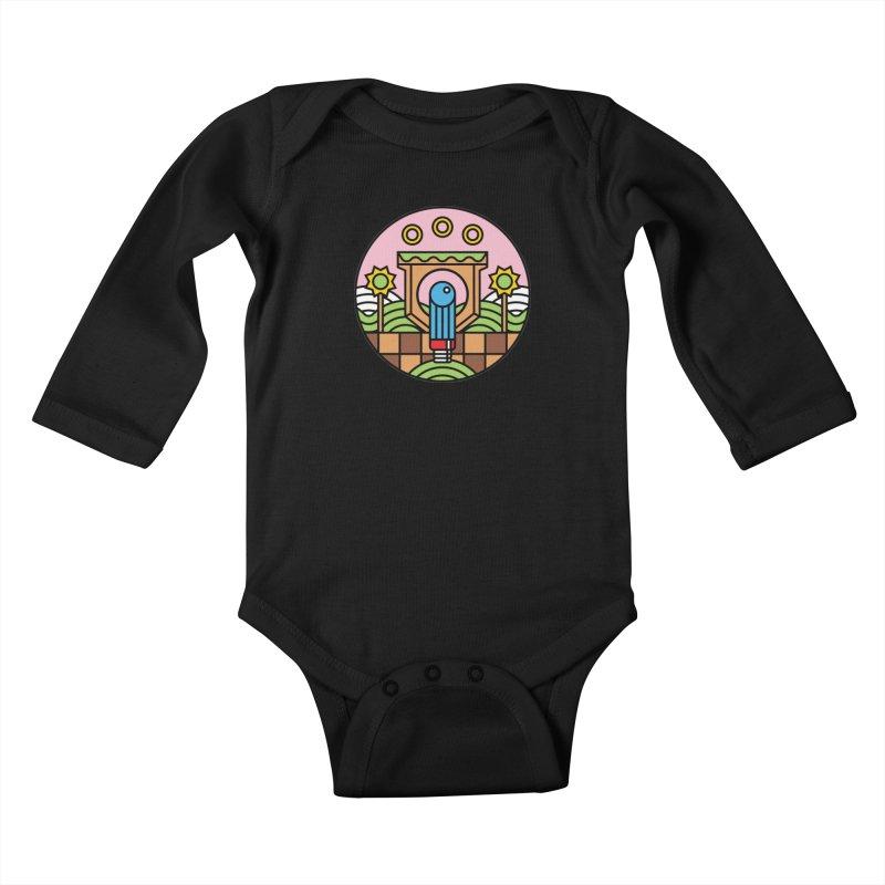 The Blue Blur Kids Baby Longsleeve Bodysuit by jasoncryer's Artist Shop