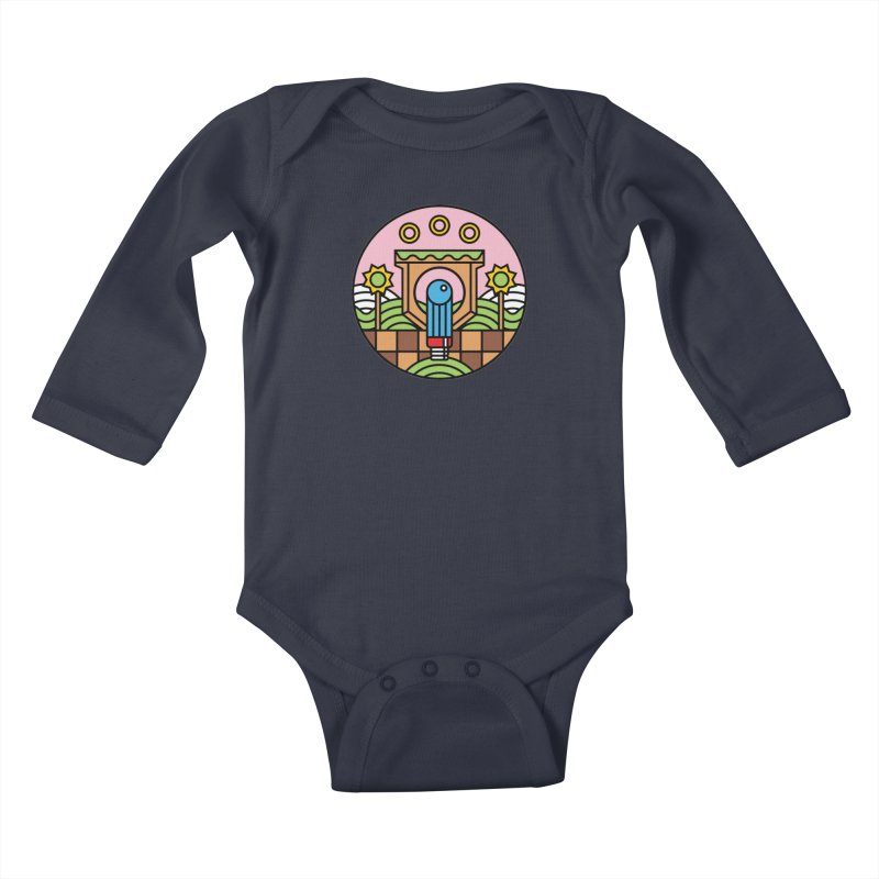The Blue Blur Kids Baby Longsleeve Bodysuit by jasoncryer's Artist Shop