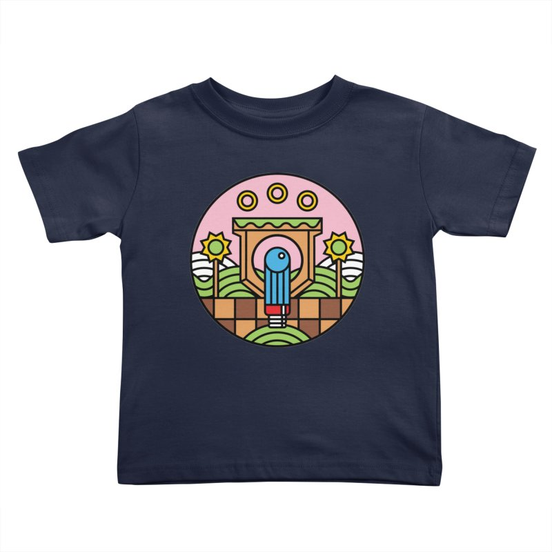 The Blue Blur Kids Toddler T-Shirt by Jason Cryer