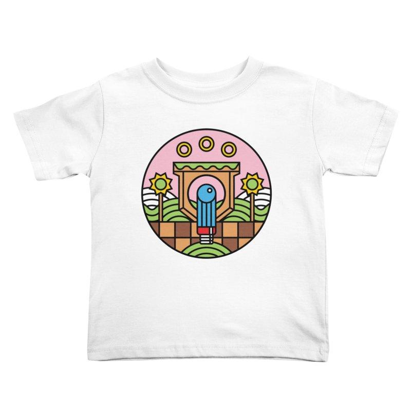 The Blue Blur Kids Toddler T-Shirt by jasoncryer's Artist Shop