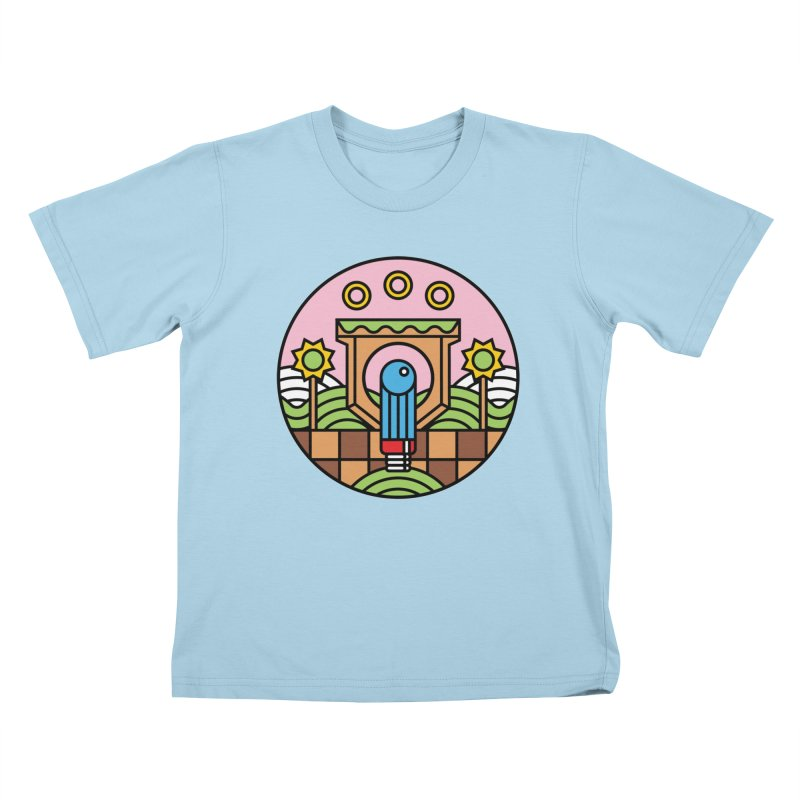 The Blue Blur Kids T-Shirt by jasoncryer's Artist Shop