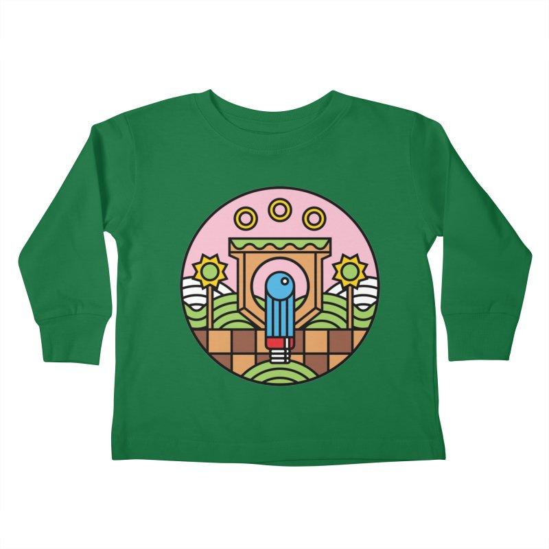 The Blue Blur Kids Toddler Longsleeve T-Shirt by jasoncryer's Artist Shop