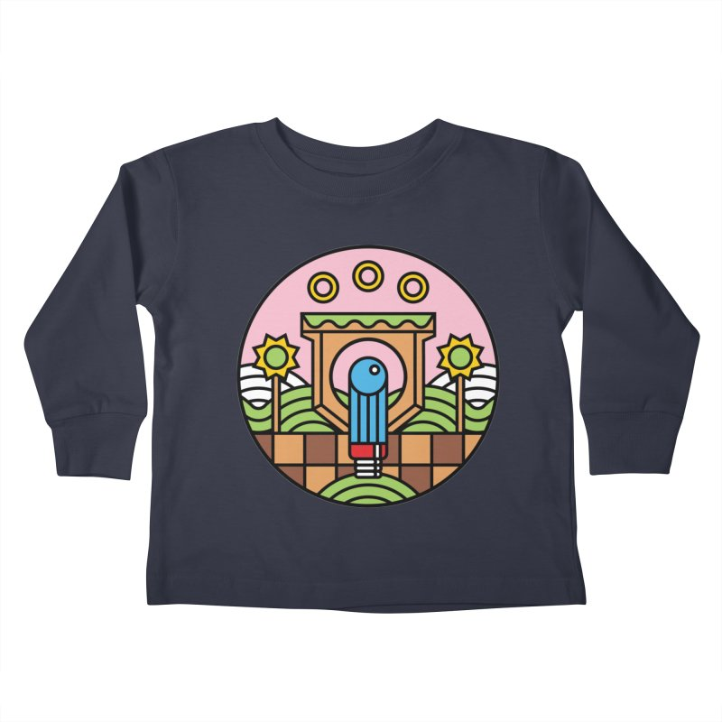 The Blue Blur Kids Toddler Longsleeve T-Shirt by jasoncryer's Artist Shop