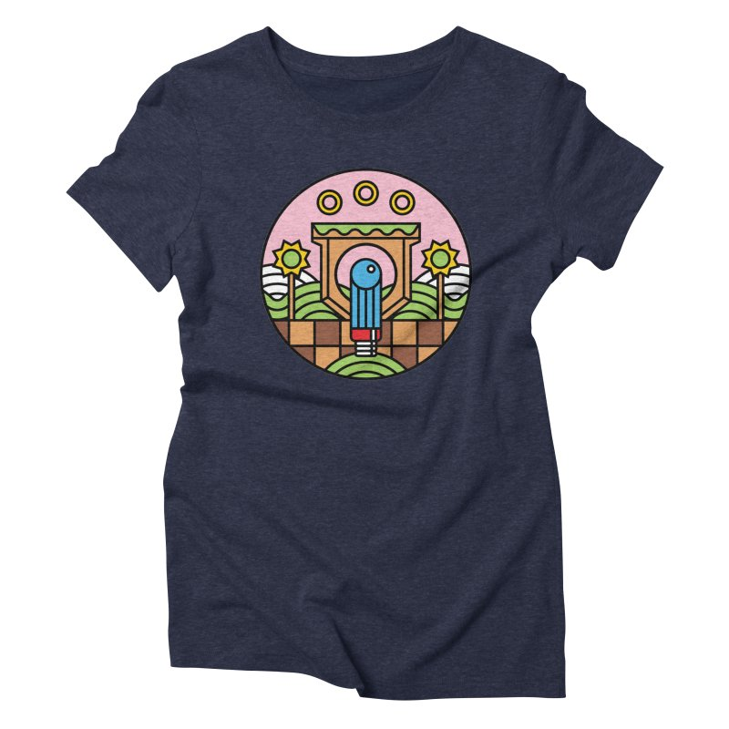The Blue Blur Women's Triblend T-shirt by jasoncryer's Artist Shop