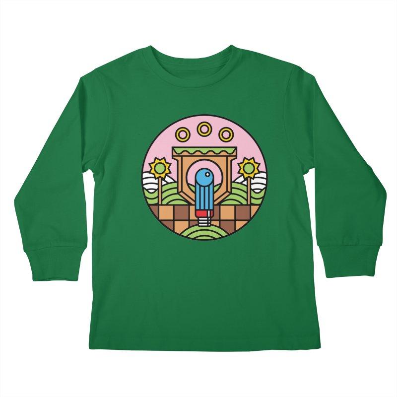 The Blue Blur Kids Longsleeve T-Shirt by jasoncryer's Artist Shop