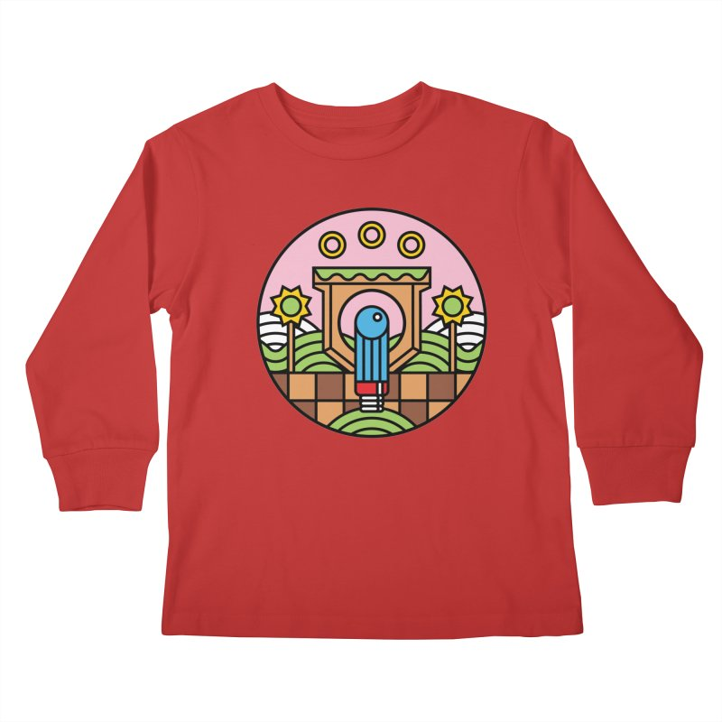 The Blue Blur Kids Longsleeve T-Shirt by Jason Cryer