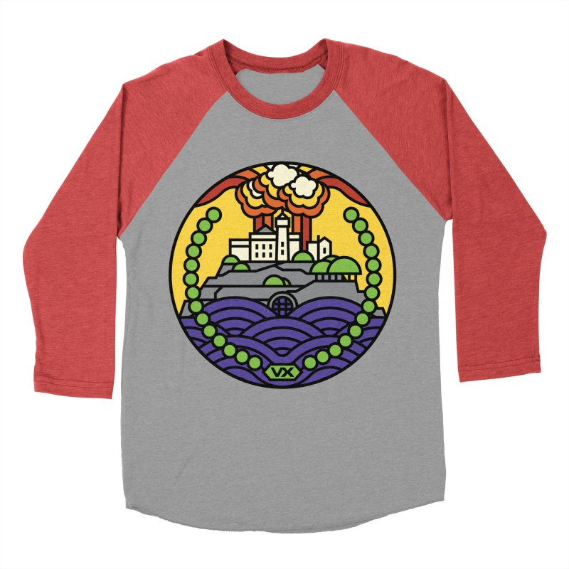 The Rock Men's Baseball Triblend Longsleeve T-Shirt by Jason Cryer