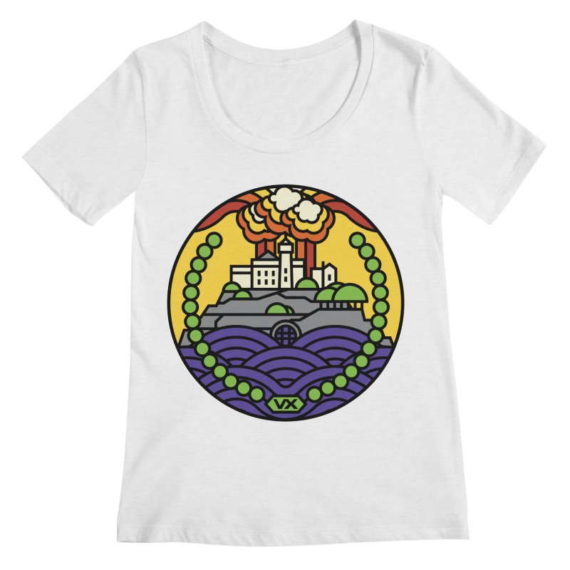 The Rock Women's Scoop Neck by Jason Cryer