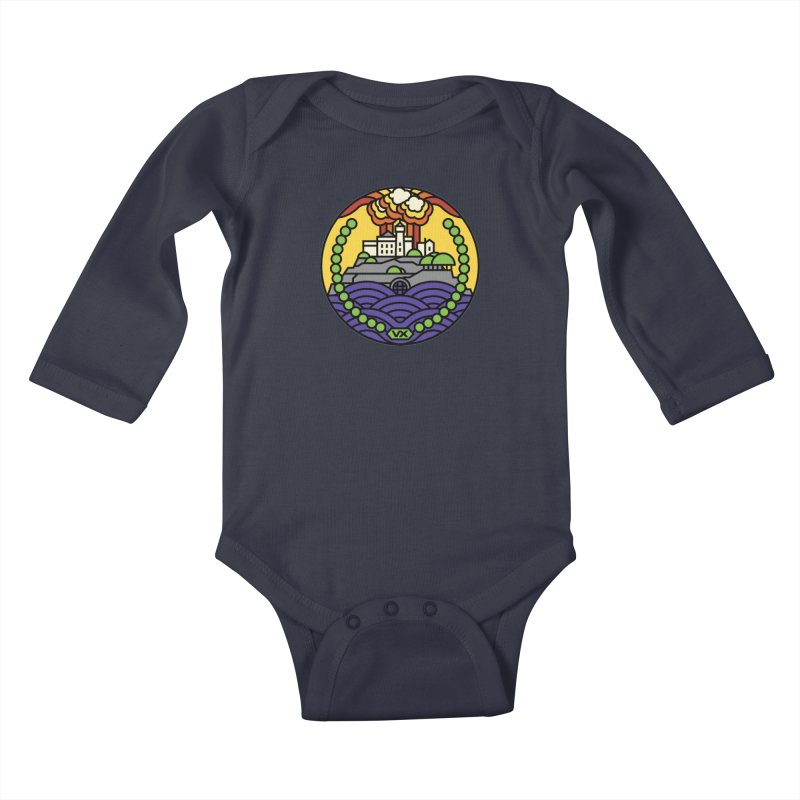 The Rock Kids Baby Longsleeve Bodysuit by jasoncryer's Artist Shop