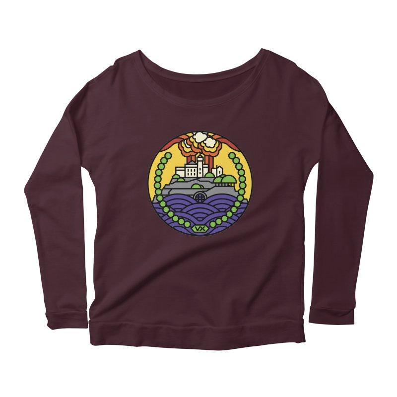 The Rock Women's Scoop Neck Longsleeve T-Shirt by Jason Cryer
