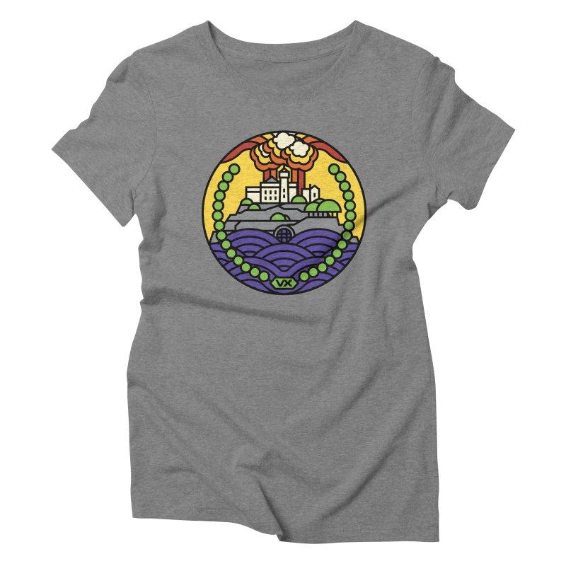 The Rock Women's Triblend T-Shirt by Jason Cryer