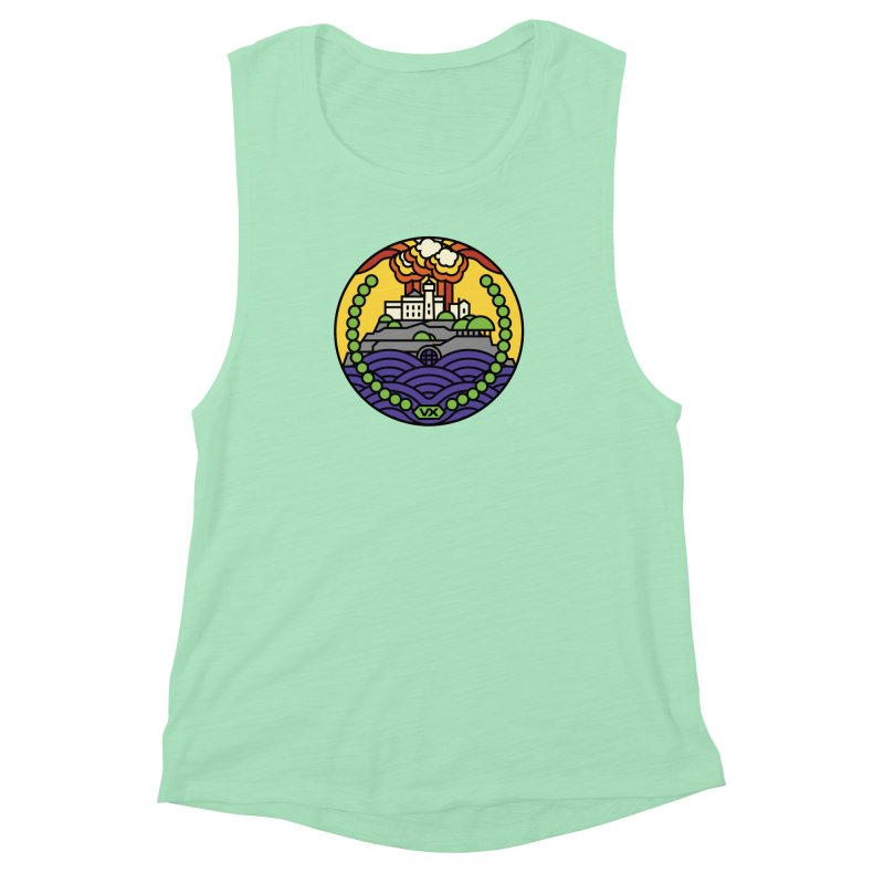The Rock Women's Muscle Tank by Jason Cryer