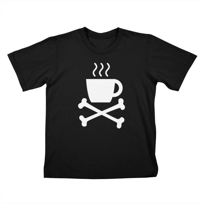 Mug 'N Bones (White) Kids T-Shirt by Fear The Mug
