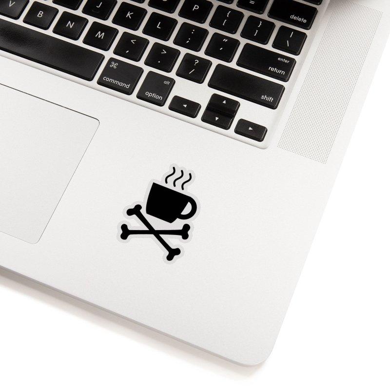 Mug + Bones sticker (black) Accessories Sticker by Fear The Mug