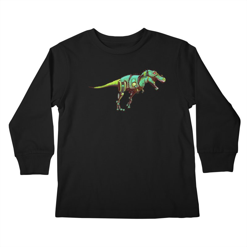 T-REX Kids Longsleeve T-Shirt by jasongamber's Artist Shop