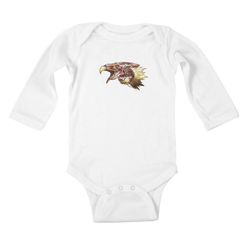 EEagle Kids Baby Longsleeve Bodysuit by jasongamber's Artist Shop
