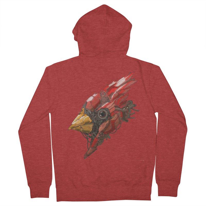 Cardinal Singe Women's Zip-Up Hoody by jasongamber's Artist Shop