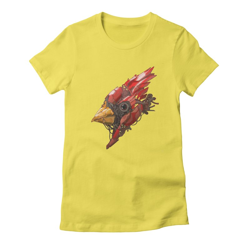 Cardinal Singe Women's Fitted T-Shirt by jasongamber's Artist Shop