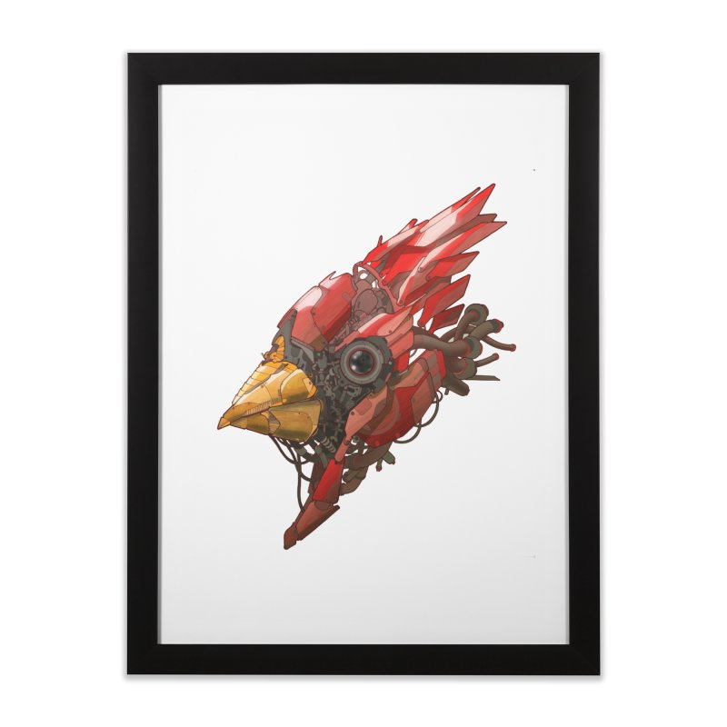 Cardinal Singe Home Framed Fine Art Print by jasongamber's Artist Shop