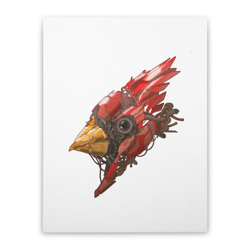Cardinal Singe Home Stretched Canvas by jasongamber's Artist Shop