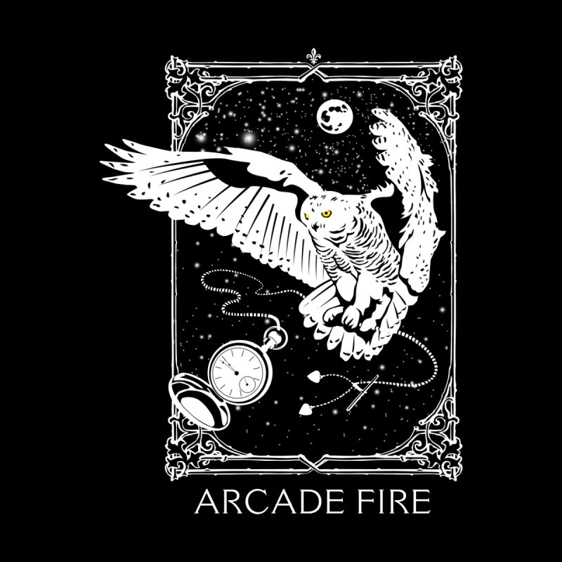 Arcade Fire - Québec Snowy Owl Men's T-Shirt by Jason Gilmore's Artist Shop