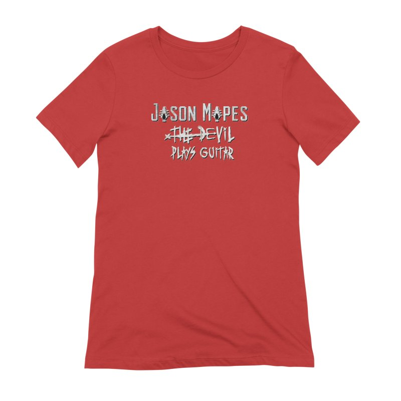 The Devil Plays Guitar Logo Women's Extra Soft T-Shirt by Jason Mapes Online Swag Shop