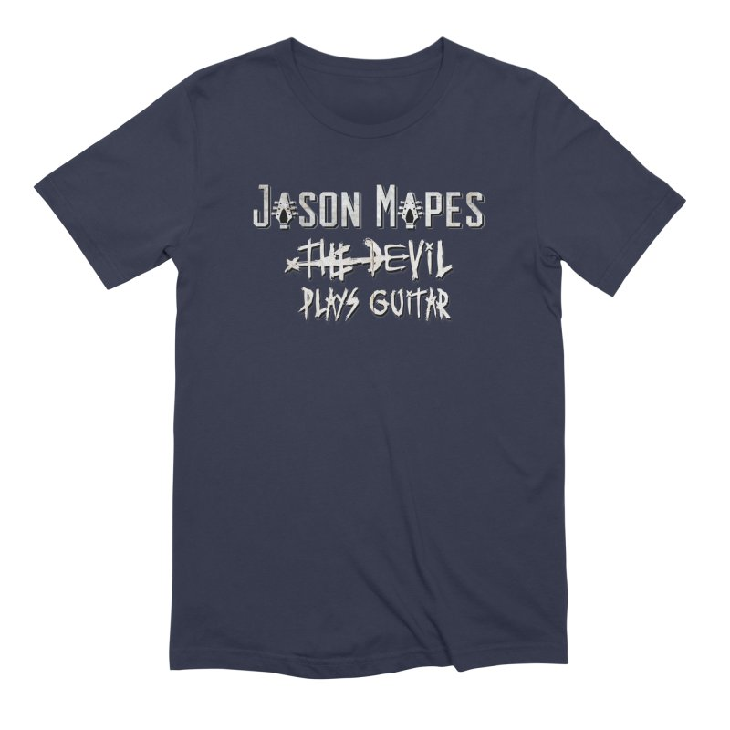 The Devil Plays Guitar Logo Men's Extra Soft T-Shirt by Jason Mapes Online Swag Shop