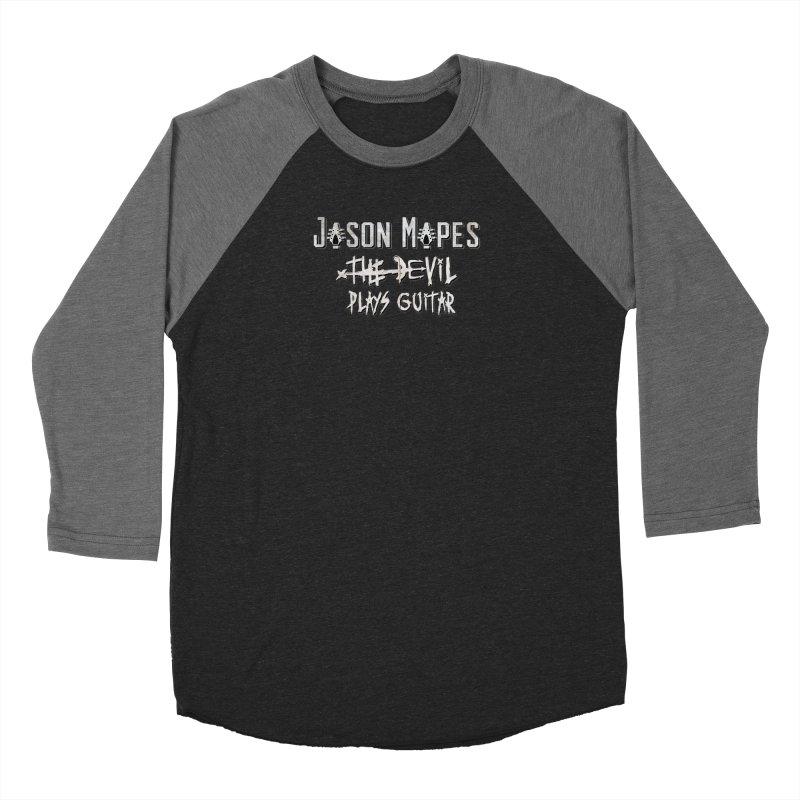 The Devil Plays Guitar Logo Men's Baseball Triblend Longsleeve T-Shirt by Jason Mapes Online Swag Shop