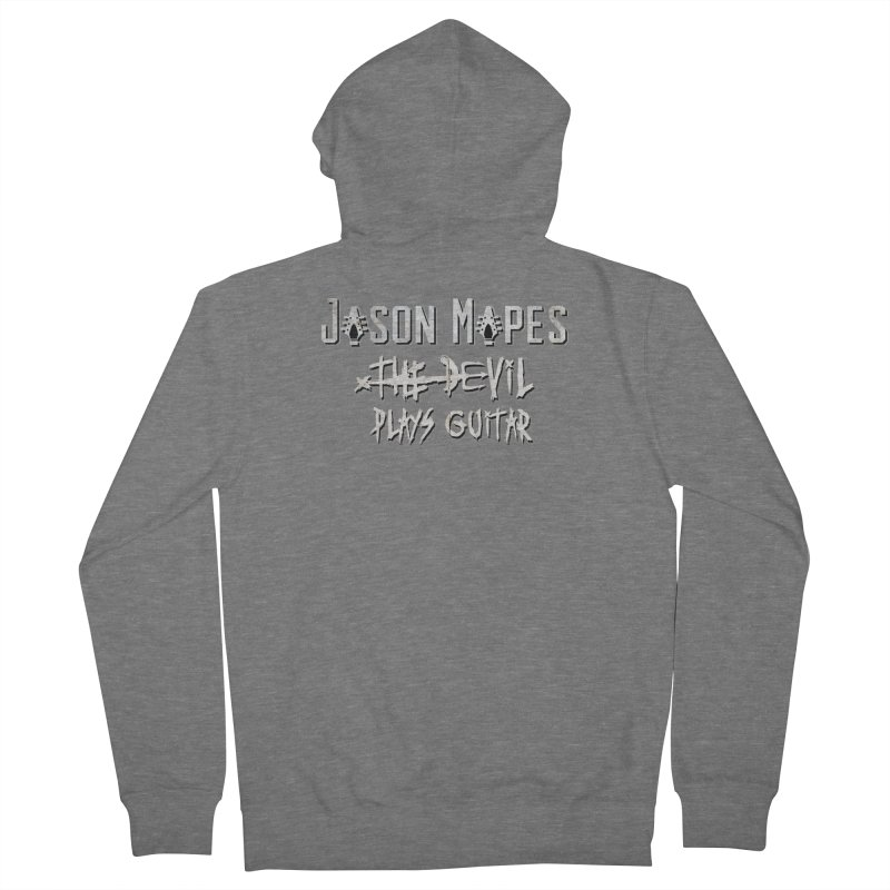 The Devil Plays Guitar Logo Women's French Terry Zip-Up Hoody by Jason Mapes Online Swag Shop