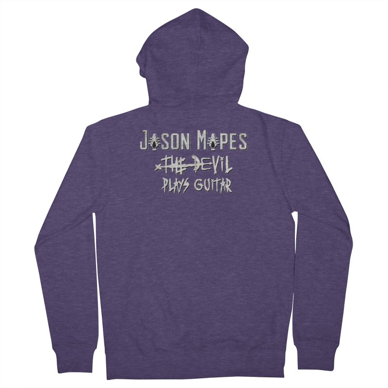 The Devil Plays Guitar Logo Men's French Terry Zip-Up Hoody by Jason Mapes Online Swag Shop