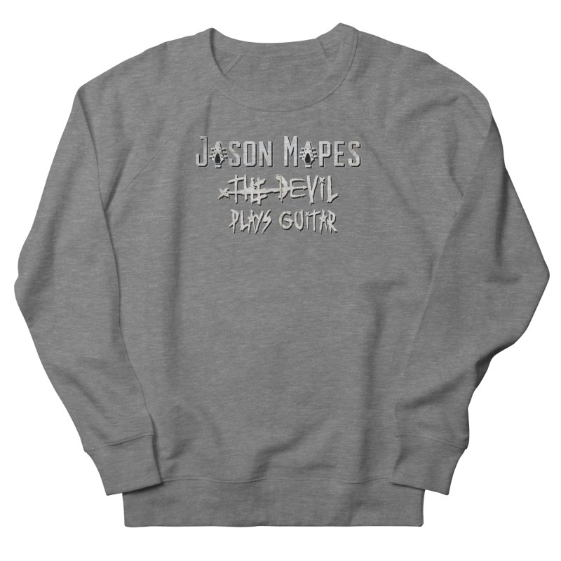 The Devil Plays Guitar Logo Women's French Terry Sweatshirt by Jason Mapes Online Swag Shop