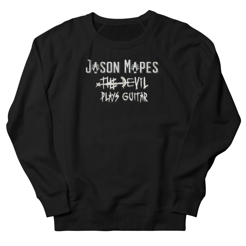 The Devil Plays Guitar Logo Men's French Terry Sweatshirt by Jason Mapes Online Swag Shop