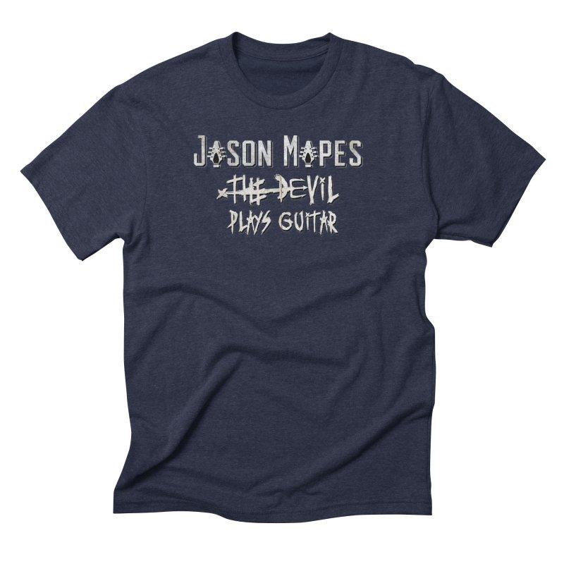 The Devil Plays Guitar Logo Men's Triblend T-Shirt by Jason Mapes Online Swag Shop