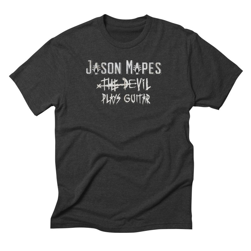The Devil Plays Guitar Logo Men's Triblend T-Shirt by Jason Mapes Online Swag Shop