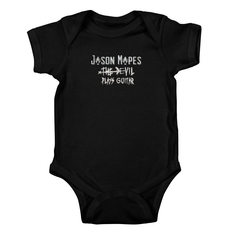 The Devil Plays Guitar Logo Kids Baby Bodysuit by Jason Mapes Online Swag Shop