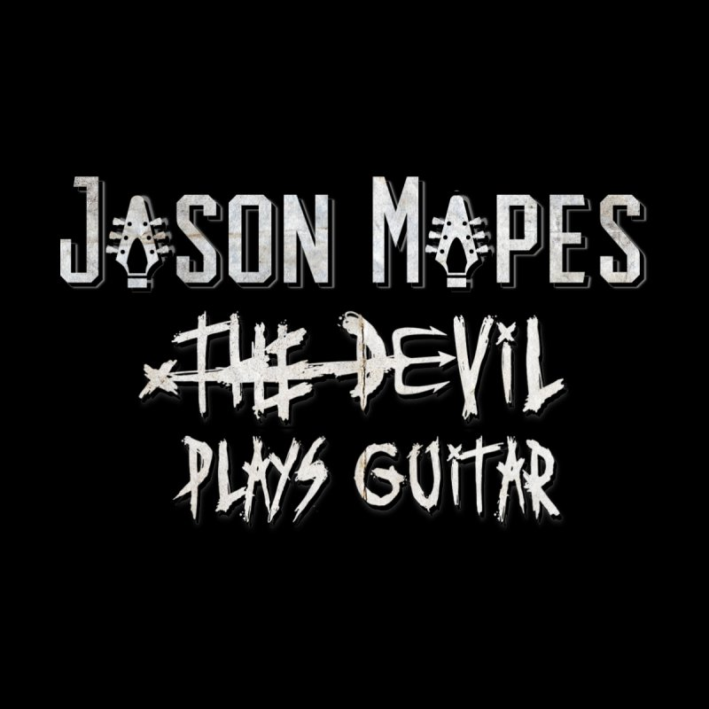 Jason Mapes The Devil Plays Guitar Logo Accessories Sticker by Jason Mapes Online Swag Shop