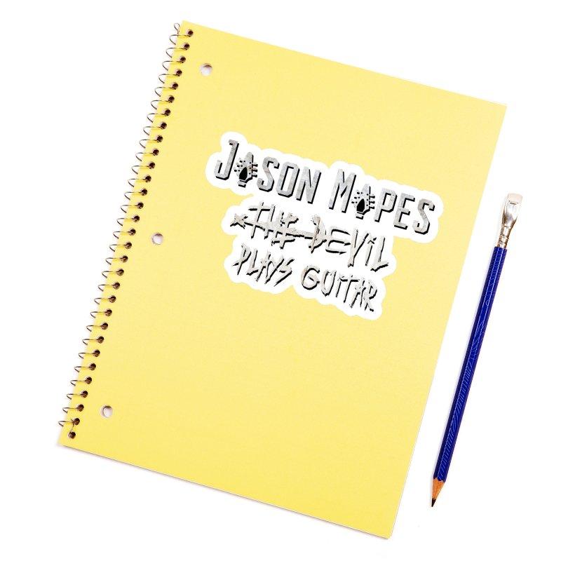 Jason Mapes The Devil Plays Guitar Logo Accessories Sticker by Jason Mapes Online Swag Shop
